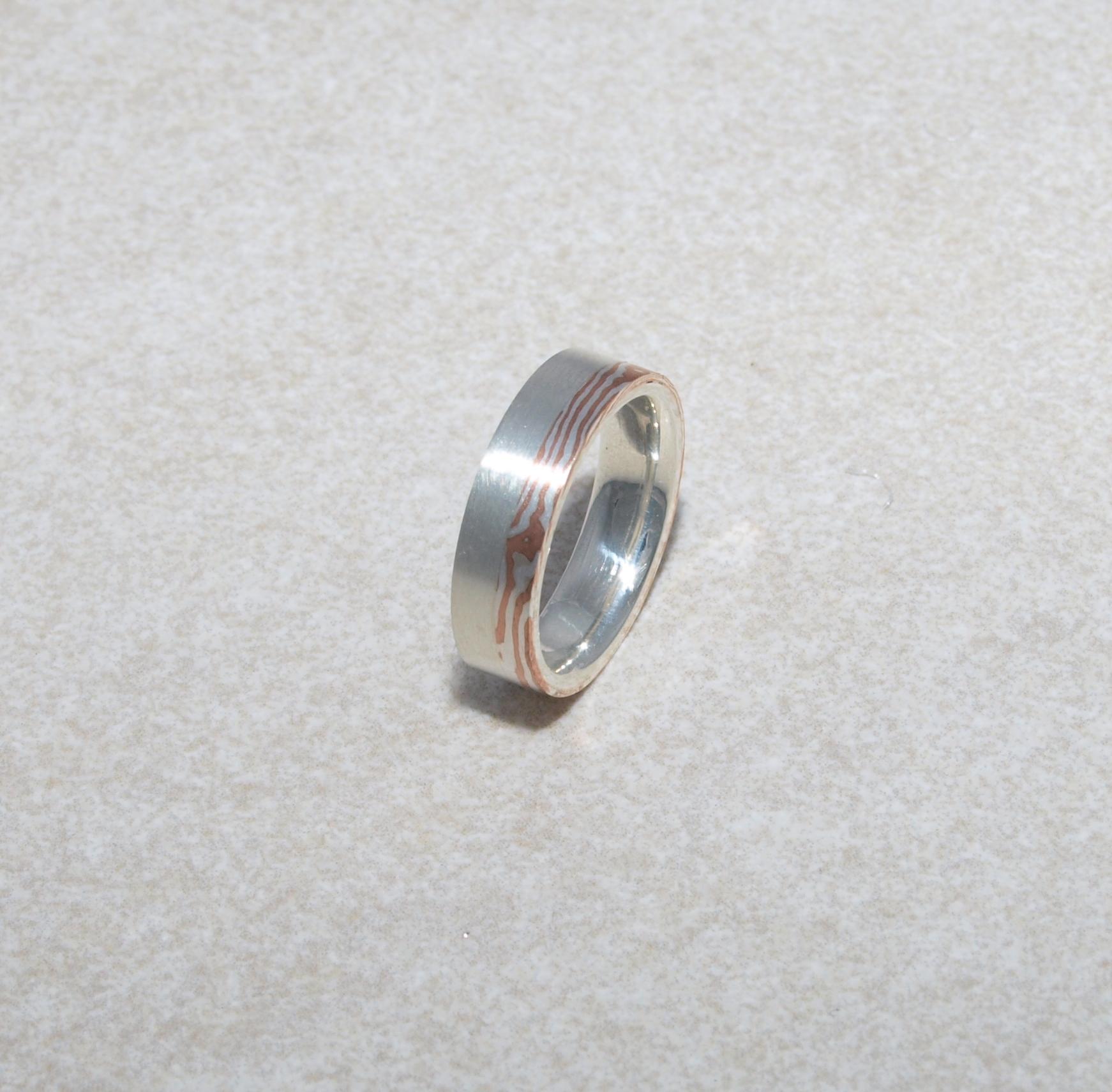 Mokumegane in Silber und Kupfer
